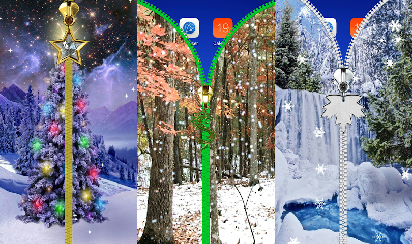 android Winter-Sperre Bildschirm. Screenshot 23