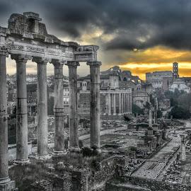 Rome by Juan Tomas Alvarez Minobis - City,  Street & Park  Vistas ( rome, cities, monuments, history, architecture )