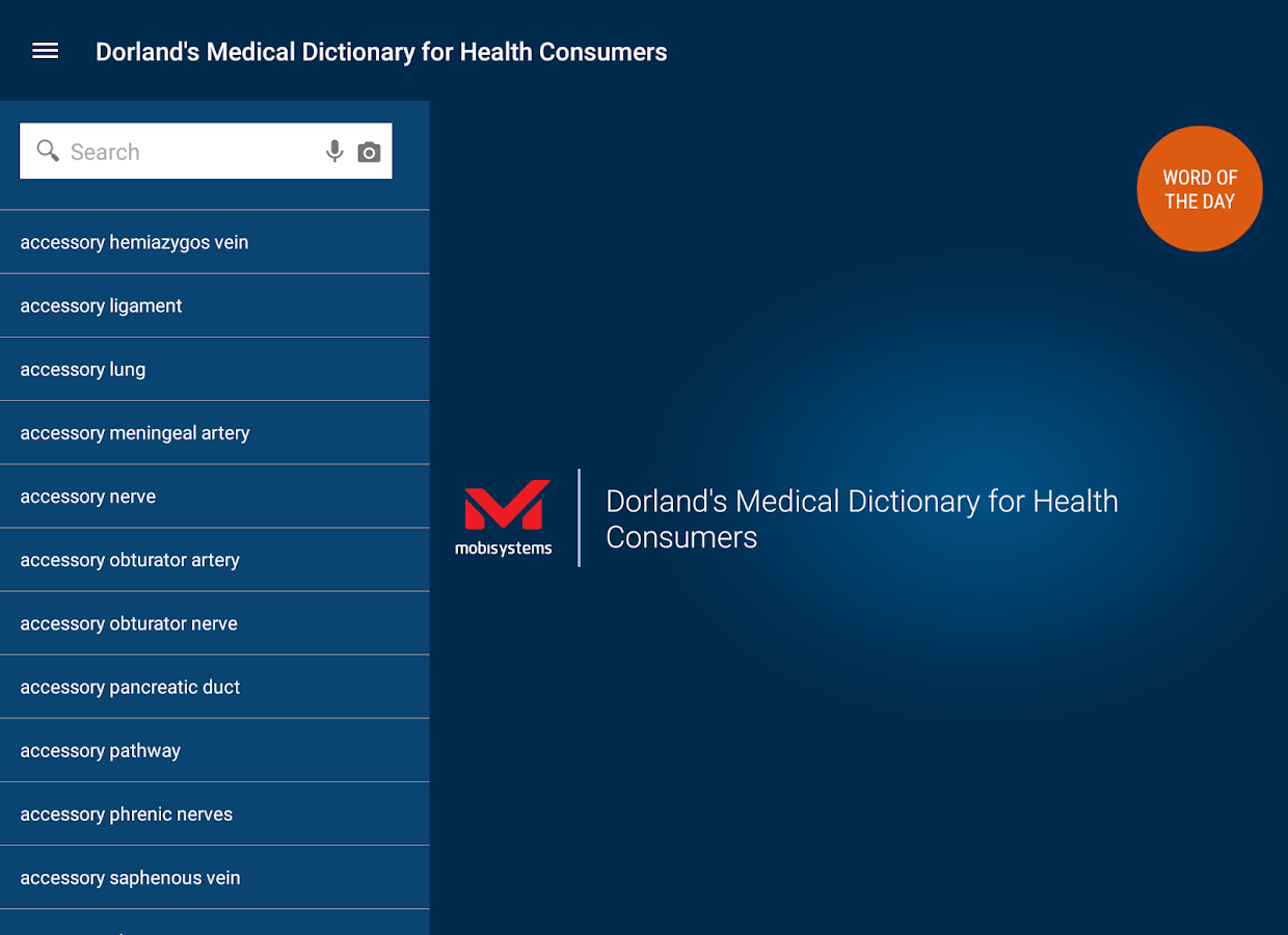 Dorland's Medical Dictionary- screenshot