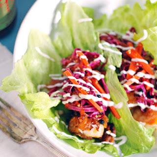 Asian Crispy Shrimp Lettuce Wraps.