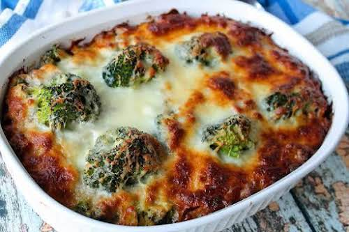 """Hamburger, Sausage, Broccoli Alfredo - Low Carb""""A easy low carb tasty meal..."""