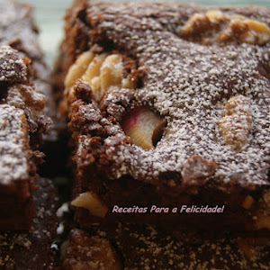 Chocolate Brownies with Walnuts and Rhubarb