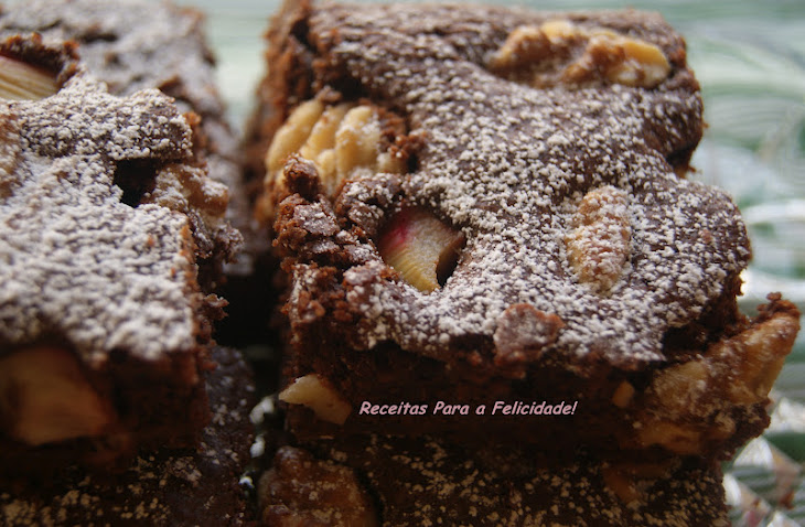 Chocolate Brownies with Walnuts and Rhubarb Recipe