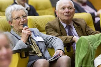 Photo: Claire Bergman, Femmes & Sciences, témoignant depuis la salle- Photo Olivier Ezratty
