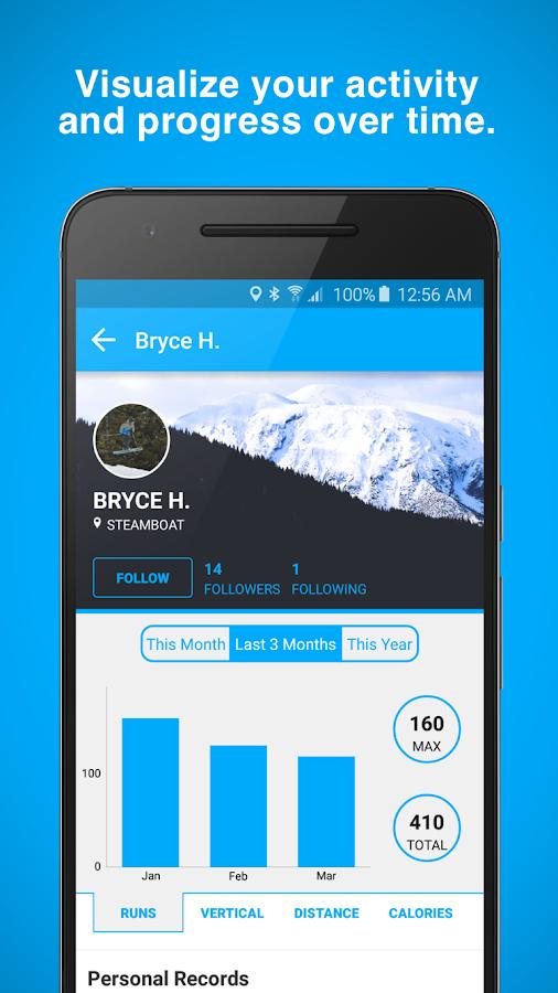 Aplikacija Trace Snow