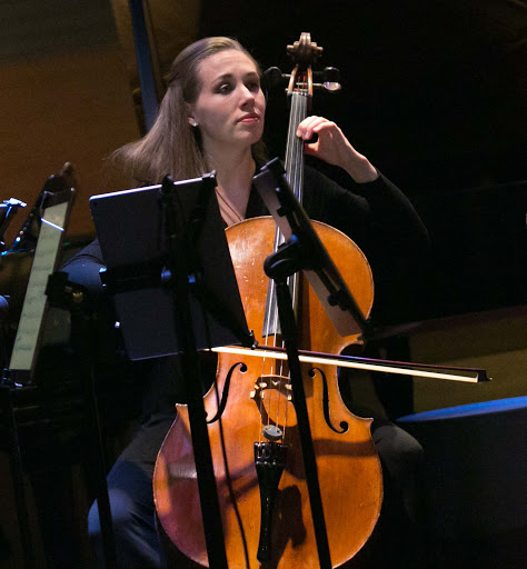 lincoln-center-stage-cellist.jpg - Rosanna Butterfield performs on cello during Lincoln Center Stage on ms Oosterdam.