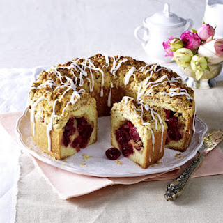 Cherry and Almond Streusel Cake