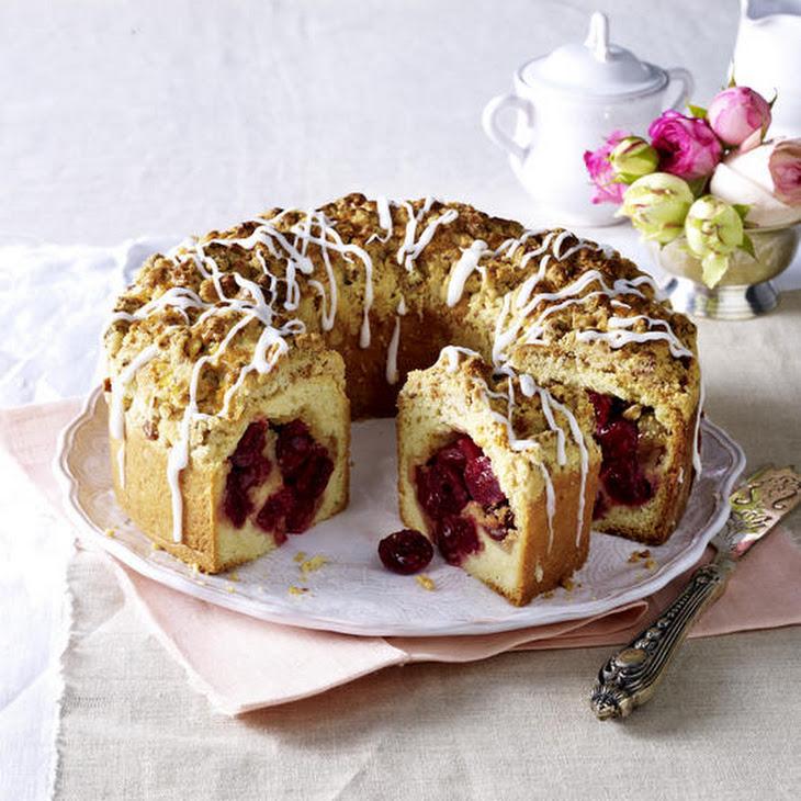 Cherry and Almond Streusel Cake Recipe