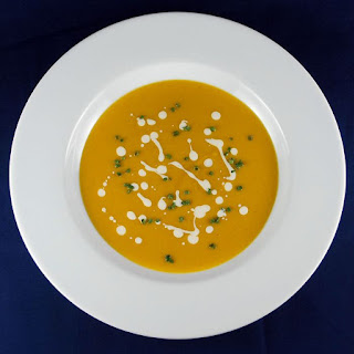 Butternut Squash Soup with Apple Cider Cream.