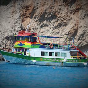 At Greece by Bratislav Stamenković - Transportation Boats ( sea, beach, boat, coast )