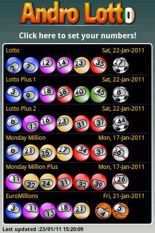Andro Lotto screenshot 1