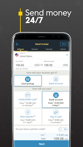 Western Union US - Send Money Transfers Quickly  screenshots 2