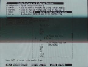 Photo: Atari System V system configuration tool