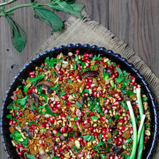 Jeweled Couscous Recipe with Pomegranate and Lentils