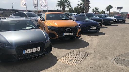 La Caravana deportiva RS de Audi está recorriendo Almería