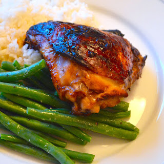 Soy Glazed Chicken Thighs.