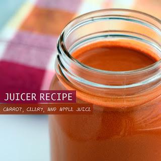 Carrot, Celery, and Apple Juice