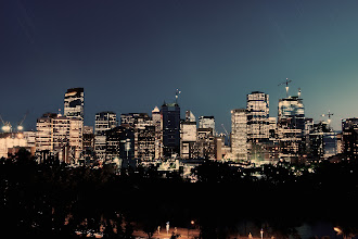 Photo: Calgary at night.