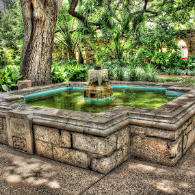 Fountain at The Alamo by Sal 1701 - Buildings & Architecture Public & Historical
