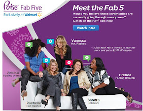 Photo: Found the Poise Fab 5 on the Walmart website.  There's also a $1 coupon!!