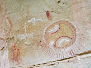Photo: Ute pictographs