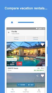 hometogo vacation rentals houses app report on mobile action. Black Bedroom Furniture Sets. Home Design Ideas