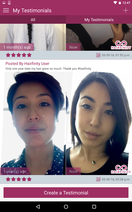 Hairfinity- screenshot
