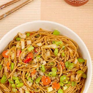Sesame Noodles with Edamame.