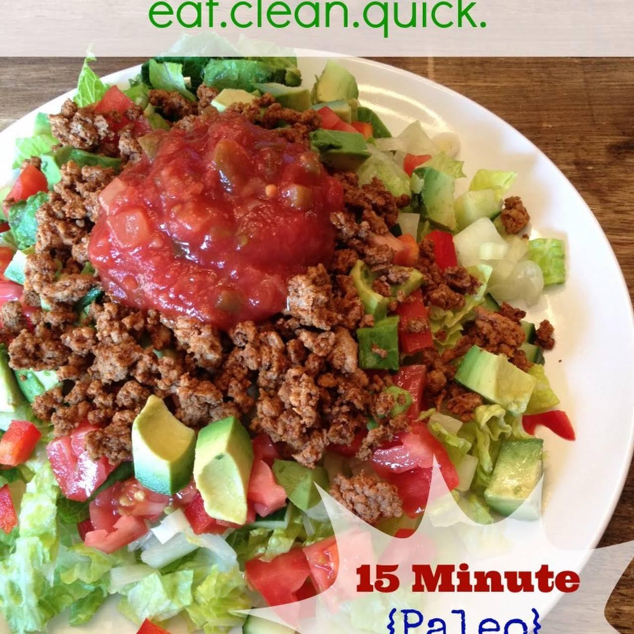 15 Minute Paleo Tacos & Taco Seasoning