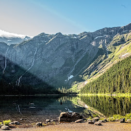 Avalanche Valley by Richard Michael Lingo - Landscapes Mountains & Hills ( mountains, avalance valley, montana, glacier national park, landscape,  )