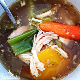 The Best Crock Pot No Noodle Chicken Soup -Whole 30 Approved.
