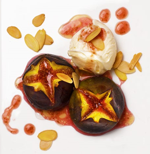 19. Figs with honey and mascarpone