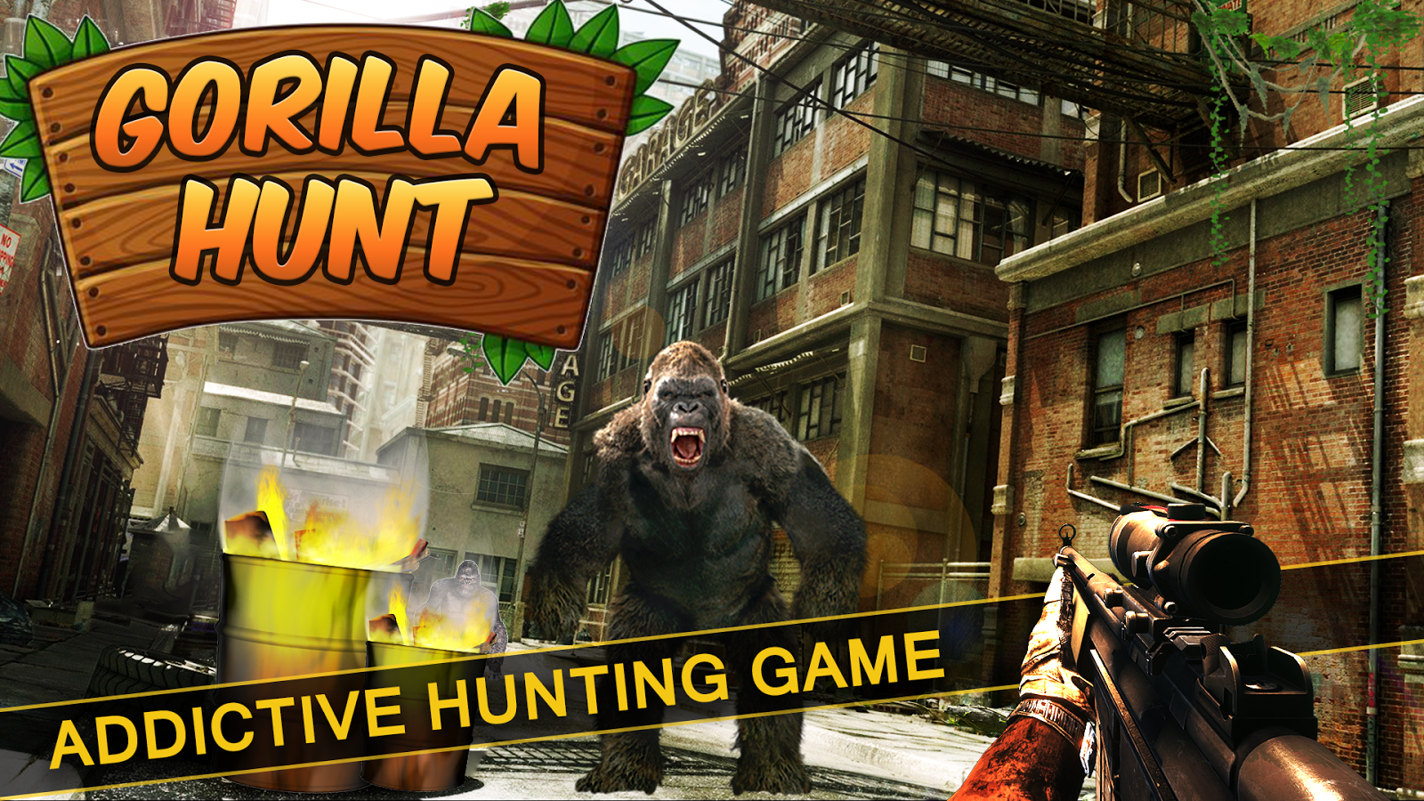 Wild Gorilla City Attack- screenshot
