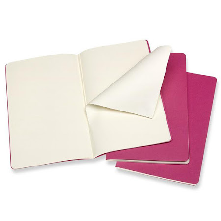 3 x Cahier Journal Large Pink