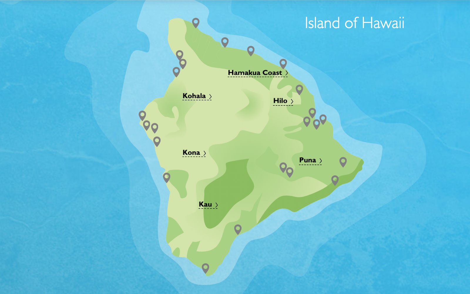 Map of the Big Island - Island of Hawaii | 7 Days on the Big Island