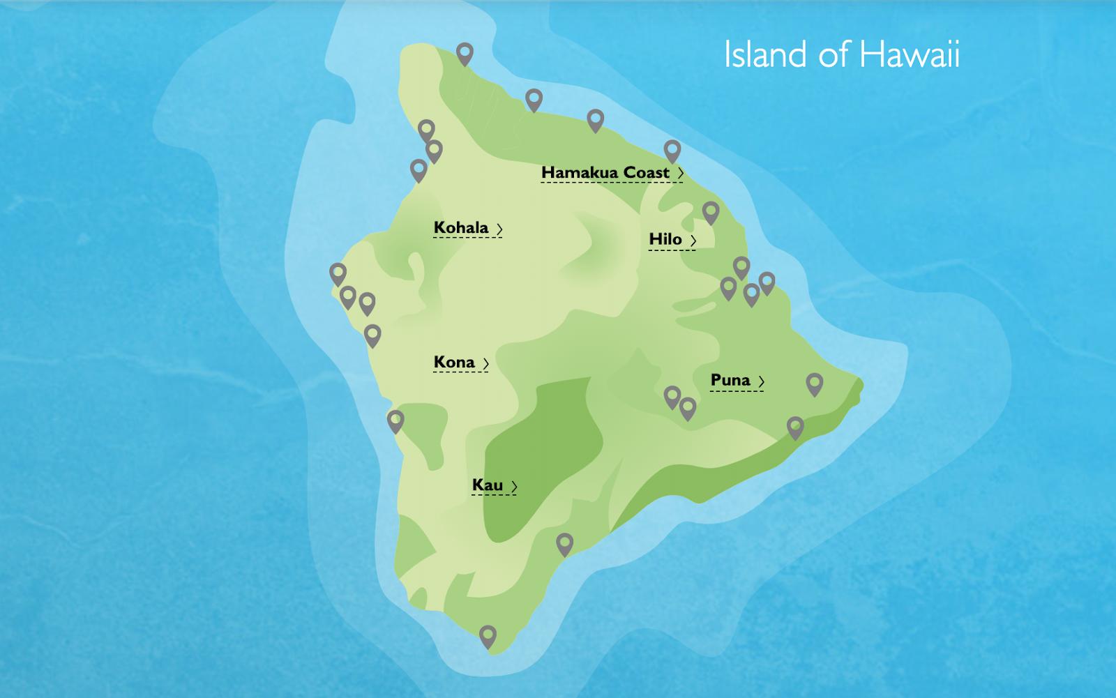 Map of the Big Island - Island of Hawaii | 7 Days on the Big Island