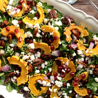 Roasted Delicata Salad with Maple Balsamic