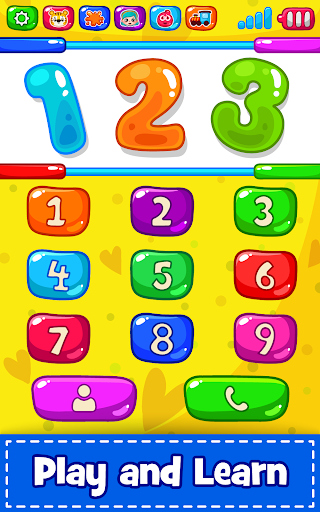 Baby Phone for toddlers - Numbers, Animals & Music apkpoly screenshots 8