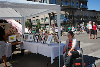 Photo: Broadway Art Fair. Sept.6-2014 Julie...My Loyal wife an best friend. Thanks for all your help. I wish I can help you too in your work...but what the hell...I'm just a Painter went you are the Brain of the family, hahahah