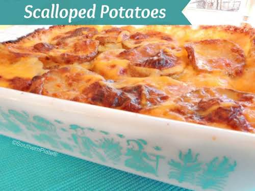 """Scalloped Potatoes """"This dish is an old comfort food recipe. Whenever I..."""