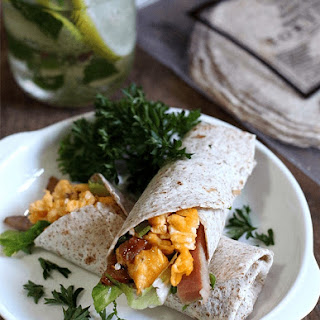 Ham and Egg Breakfast Wrap.