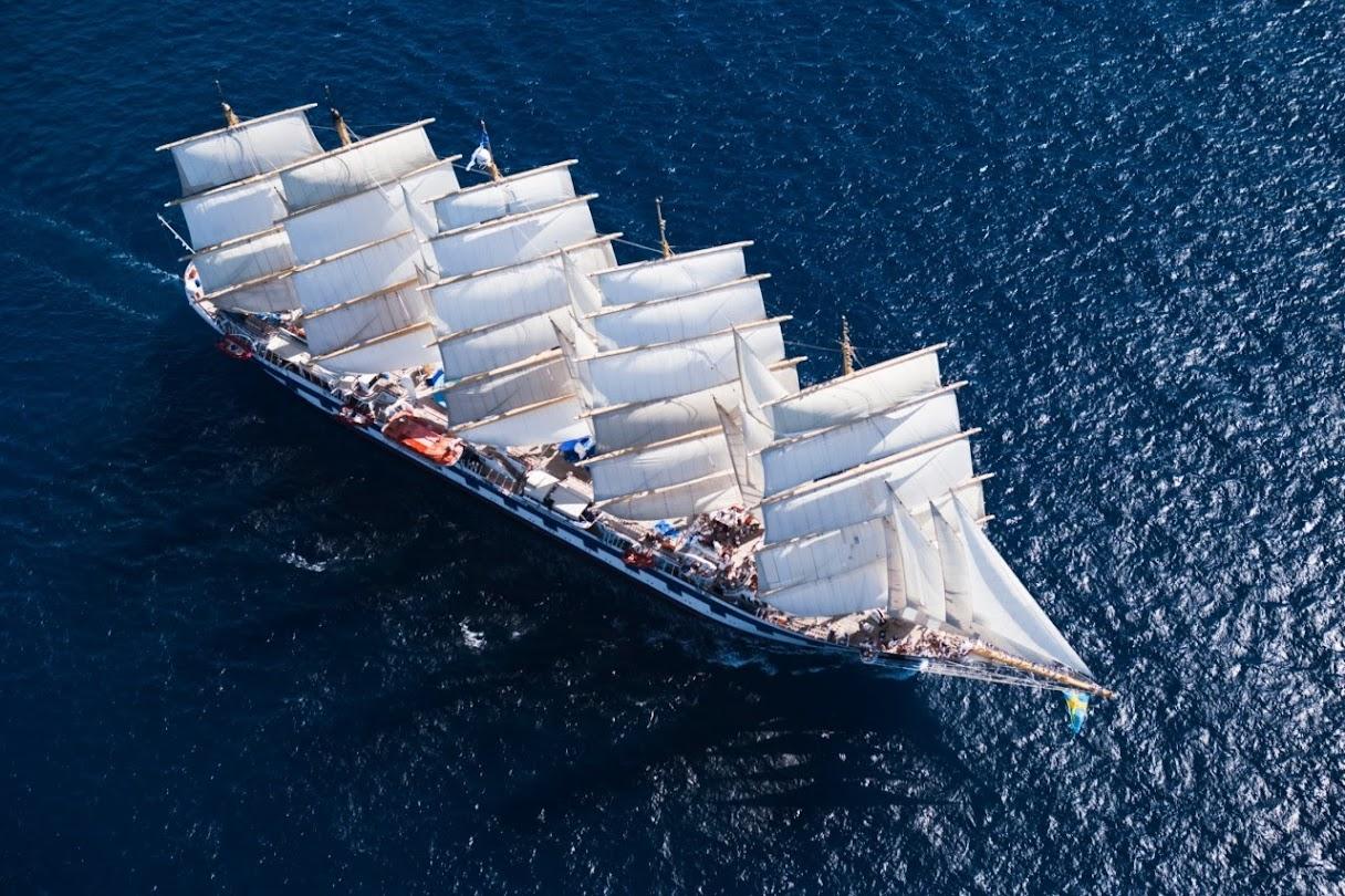 Royal Clipper, o imponente veleiro de cinco mastros