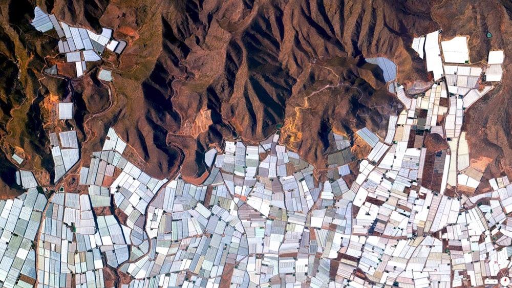 Campo de Dalías, as estufas de Almeria
