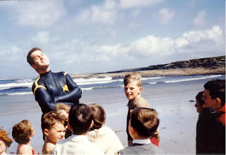 """Photo: """"Those were the Days"""",  a young Ronnie Hurley surrounded by even younger admirers."""