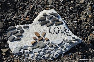 Photo: Beautiful rock design at Burton Island State Park by Raven Schwan-Noble