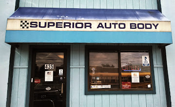 Photo: Superior Auto Body in Medford, MA proudly displaying your BBB Accreditation