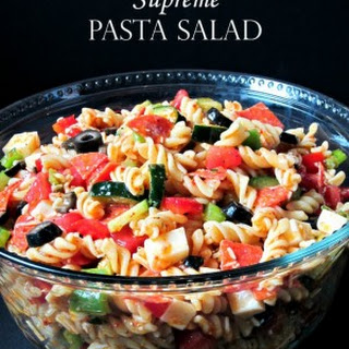 Pasta Salad Supreme Italian Dressing Recipes