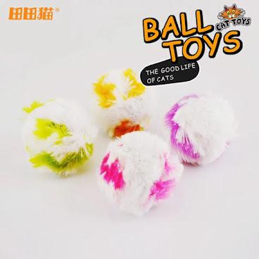 田田貓 毛絨小球 貓玩具4pcs