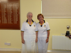 Photo: Ladies Pairs Champions- Hildigunnur Churchman and Christine Perryman