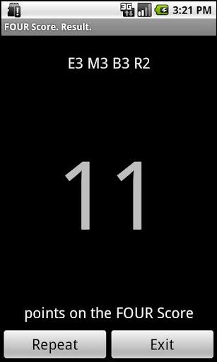 FOUR score screenshot 5